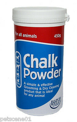 Hatchwells Chalk Powder 450G Dry Clean Whitens Bright Coat Dog Horse Cat Rabbit