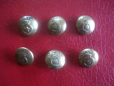 Six Vintage Small ARMY BRASS BUTTONS  CANADA WW2