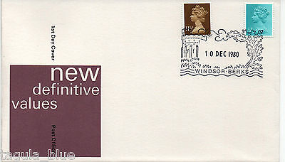 GB Stamps 10-12-1980 New Definitive Issue First Day Cover