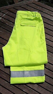 Farlane Protection by Alisco Flame Retardant Hi-Vis Trousers With Knee Pockets