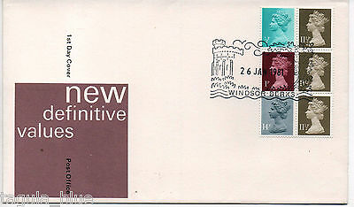 GB Stamps 26-1-1981 Definitive Booklet pane First Day Cover sgX841ta