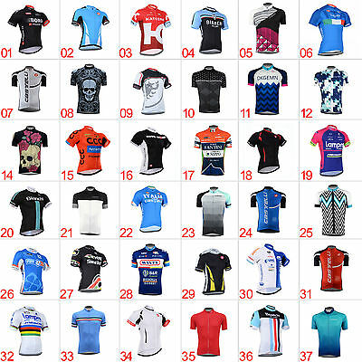 New Men's Sports Cycling Jerseys Short Sleeve Tops Shirt Bicycle Clothing Wear