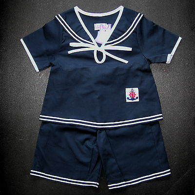 BABY BOYS SAILOR OUTFIT Very Dark Blue Clothing Cotton Suit Pajama Comfort Wear
