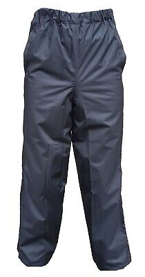 100% Polyester Black Waterproof Over trousers Used