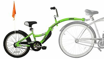 WeeRide Folding TagAlong Bike Trailer like Piccolo. Deliver in 24hrs. Green