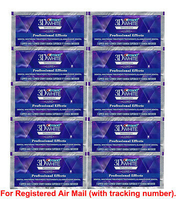 Crest 3D White Luxe Whitestrips Professional Effects Whitening 20strips/10pouche