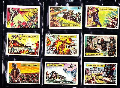 BATTLE A&BC GUM CARDS /  COMPLETE SET 73  see every card scanned in text section