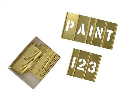 C H Hanson 10068 1in Brass Stencils Letters/Numbers 45-Piece Set