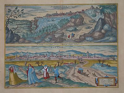Italy. Acuapendente And Tarvisio By Braun & Hogenberg Pub. 1598..