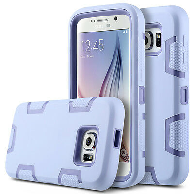 Slim Hybrid Rubber Shockproof Protective Hard Case Cover for Samsung Galaxy S6