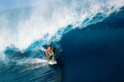 """Andy Irons in French Polynesia 8x12"""" Photo by Pete Frieden"""
