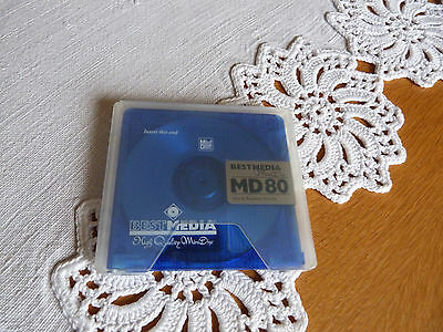 MD_MD 80 Minuten_Best Media_high quality mini disc_80_Minidisc_selten_80 Minuten