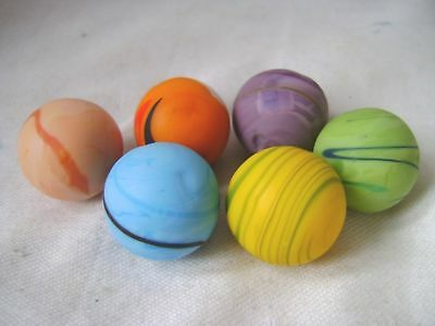 NEW SET OF 6 HANDMADE SANDSTORM MARBLES TRADITIONAL GAME COLLECTOR 22mm HOM