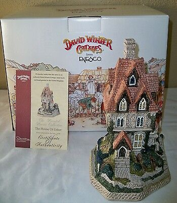 The House of Usher, Enesco D1035 Haunted House Collection David Winter Cottages
