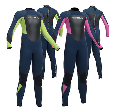 GUL RESPONSE BS 5/3mm Junior Childs Full Winter Wetsuit Surf Kayak Dive Jetski