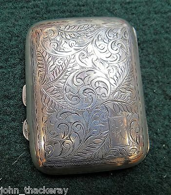 Hallmarked Solid Sterling Silver Antique Cigarette/Card Case (See Pics)