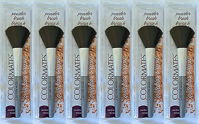 6 x Colormates Powder Brushes Wholesale Joblot Clearance Make Up New 2