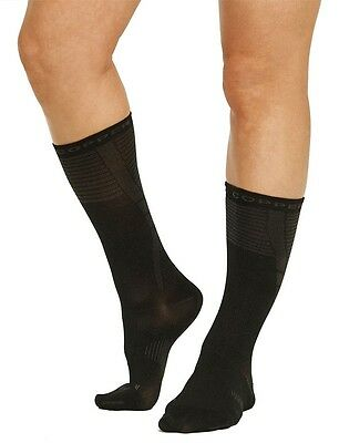 2 Pair Tommie Copper Women's Recovery Compression Dress Crew Sock 4-7 shoe