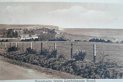 SWANAGE FROM LIGHTHOUSE ROAD 1911  Vintage Postcard