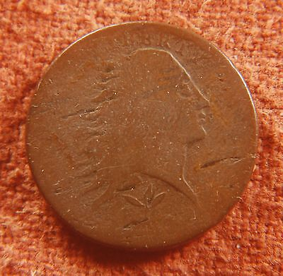 1793 US American Flowing Hair Large Cent S-10 R-5 Gd No Problems But Age