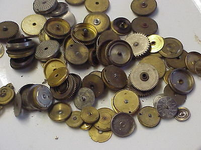Used Watch Spring Barrels for Repair or Steampunk Altered Art Projects Q