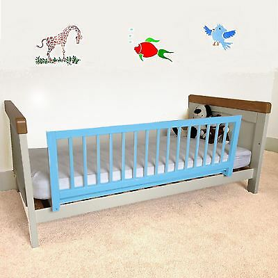 Safetots Wooden Bed Rail Blue Toddler Wood Bed Guard Safety Bedrail