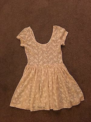 Atmosphere ~ Blush Floral Lace Top/dress ~ Size 8