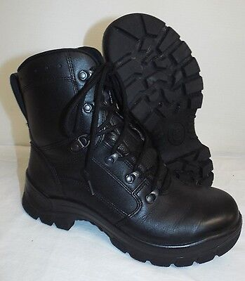 HAIX BLACK LEATHER COMBAT BOOTS - Size: 8 M, British Army Issue