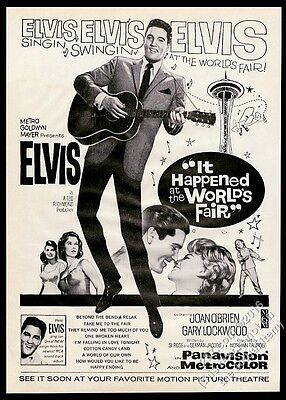 1963 Elvis Presley photo It Happened At The World's Fair movie release print ad