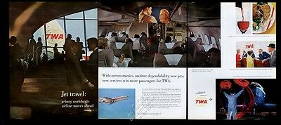 1965 TWA airlines 7 color photo vintage print ad