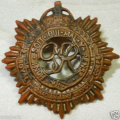 Ww1 Military Royal Canadian Army Service Corps Cap Badge - World War 1