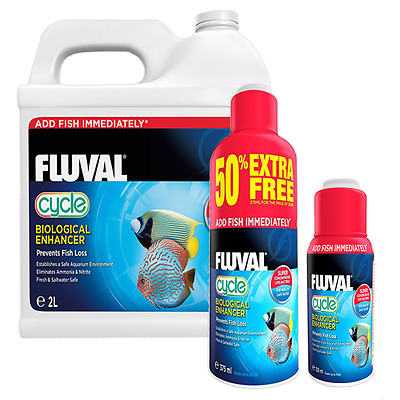 Fluval Cycle Biological Enhancer Aquarium Water Treatment - 120ml, 375ml, 2L
