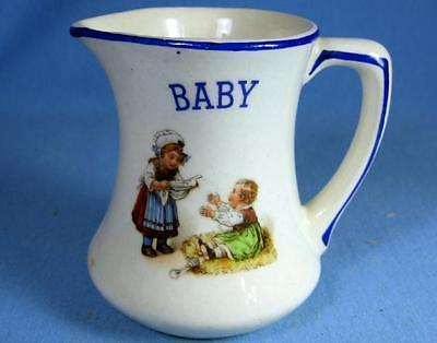 Czech Pottery BABY NURSERY RHYME Milk Pitcher PERFECT Baby Shower Gift