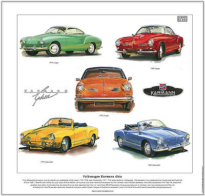 Volkswagen Karmann Ghia--Car Art Print