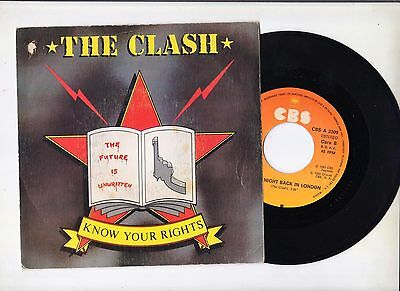 The Clash:rare Spanish Single Spain-1982 - Ex/ex-Promo Stamp Not For Sale At Bac