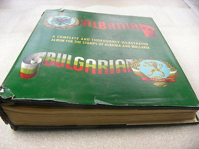ALBANIA, BULGARIA, 100'S of Stamp Collection hinged in a Minkus Specialty album