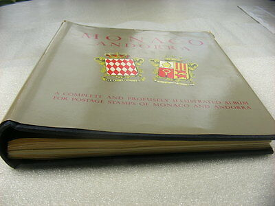 MONACO, ANDORRA, Excellent Stamp Collection hinged in a Minkus Specialty album