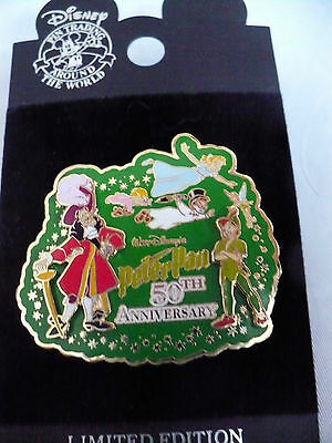 Disney Peter Pan 50th Anniversary Pin 3D Limited Ed. 1500 with Free Shipping