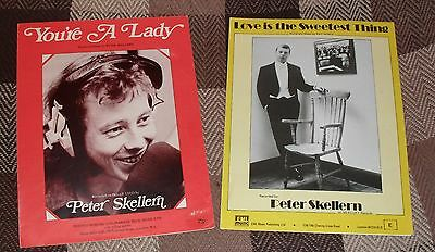Peter Skellern, You're A Lady  Sheet-Music, 1972  +  Love Is The Sweetest Thing.