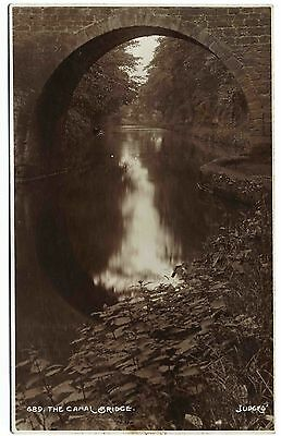 Early Postcard . The Canal Bridge . Unknown Location . P/u 1923