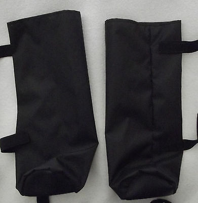AFGHAN HOUND/SHEEPDOG similar size dog BLACK SHOWERPROOF BOOTS faux leather paws