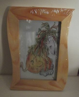 "AFGHAN HOUND What a mess dog Beautiful framed picture 7"" x 5"""