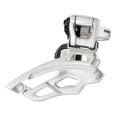 New Sram X9 31.8mm Front Derailleur High Clamp Top Pull Bottom Swing 44-48 3x9sp