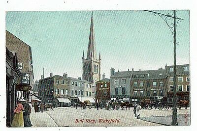 Post Card Early Printed Bull Ring Wakefield