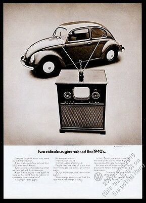 1971 VW Volkswagen Beetle classic 1948 car photo vintage print ad