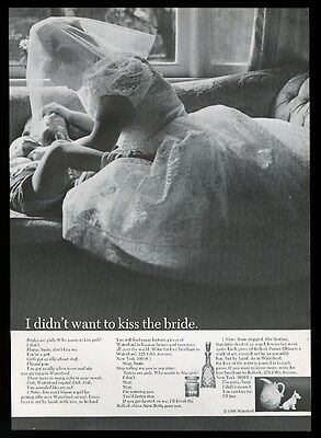 1966 Waterford crystal Belleek china bride tickling little boy photo print ad