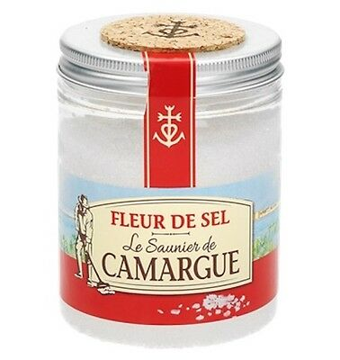 French Le Saunier De Camargue Fleur De Sel Sea Salt 8.8 Oz (250g) Canister New