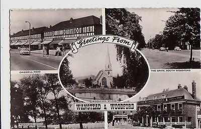 Greetings from Wanstead & Woodford. Pub. Cranley Commercial. Postally used 1968