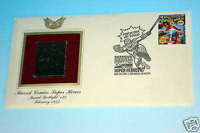 Spider-Woman Gold Edition USPS Stamp First Day Of Issue Marvel Spotlight #32
