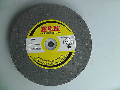 "Vitrified GRINDING WHEEL 7""x1""x1"" 100 Grit Bench Grinder"